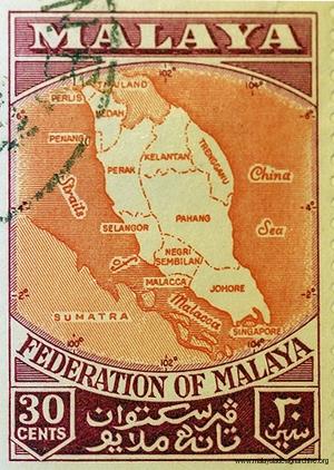 Federation of Malaya 30cent stamp